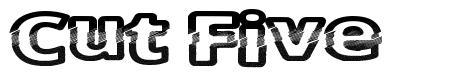 Cut Five font
