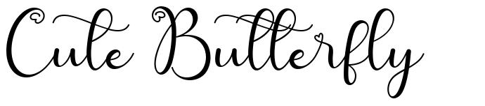 Cute Butterfly písmo