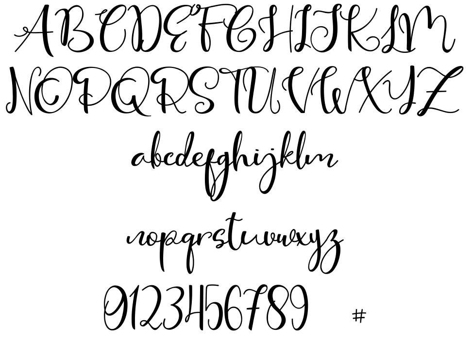 Cute Thing Script шрифт