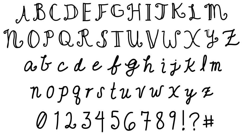 Cute Writing font by Kristen Gudsnuk - FontRiver