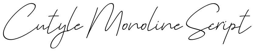 Cutyle Monoline Script font