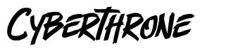 Cyberthrone 字形