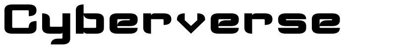Cyberverse font
