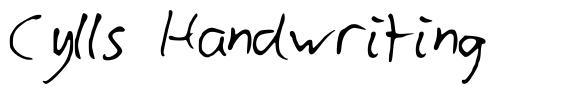 Cylls Handwriting