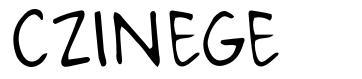 Czinege font