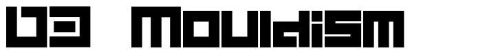 D3 Mouldism font