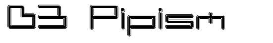 D3 Pipism font