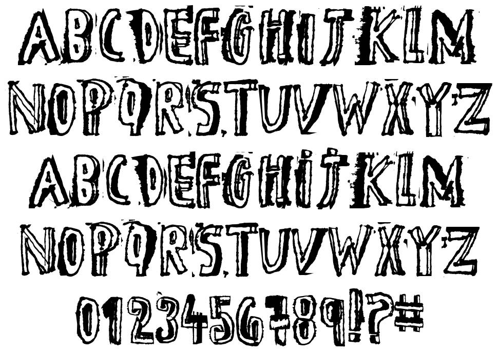 D the Hero font