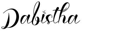 Dabistha