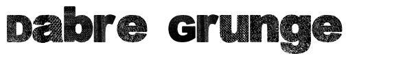 Dabre Grunge font