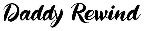 Daddy Rewind font