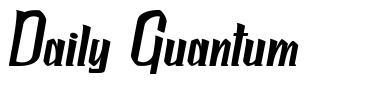 Daily Quantum font