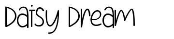 Daisy Dream 字形