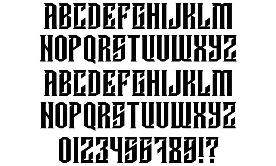 Damages font