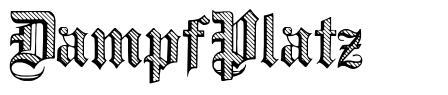 DampfPlatz 字形