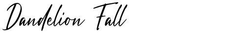 Dandelion Fall