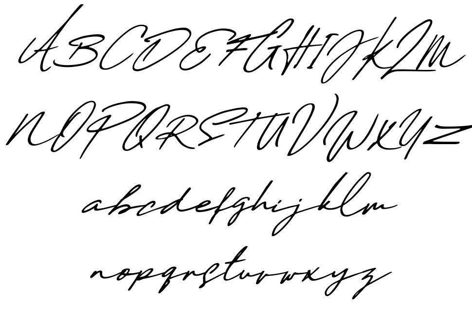 Daniels Signature フォント