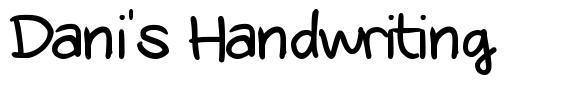 Dani's Handwriting font