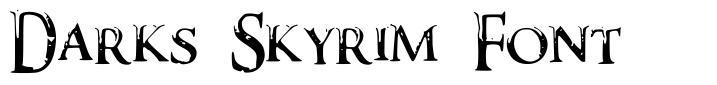 Darks Skyrim Font