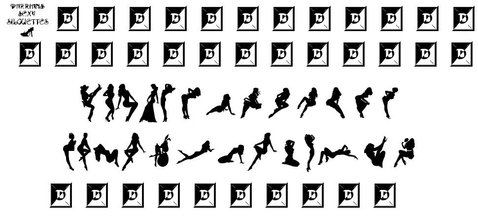 Darrians Sexy Silhouettes 字形