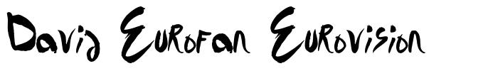 David Eurofan Eurovision font