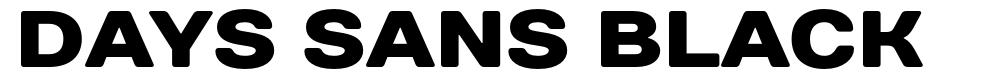 Days Sans Black font