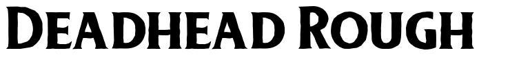 Deadhead Rough font