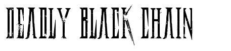 Deadly Black Chain font