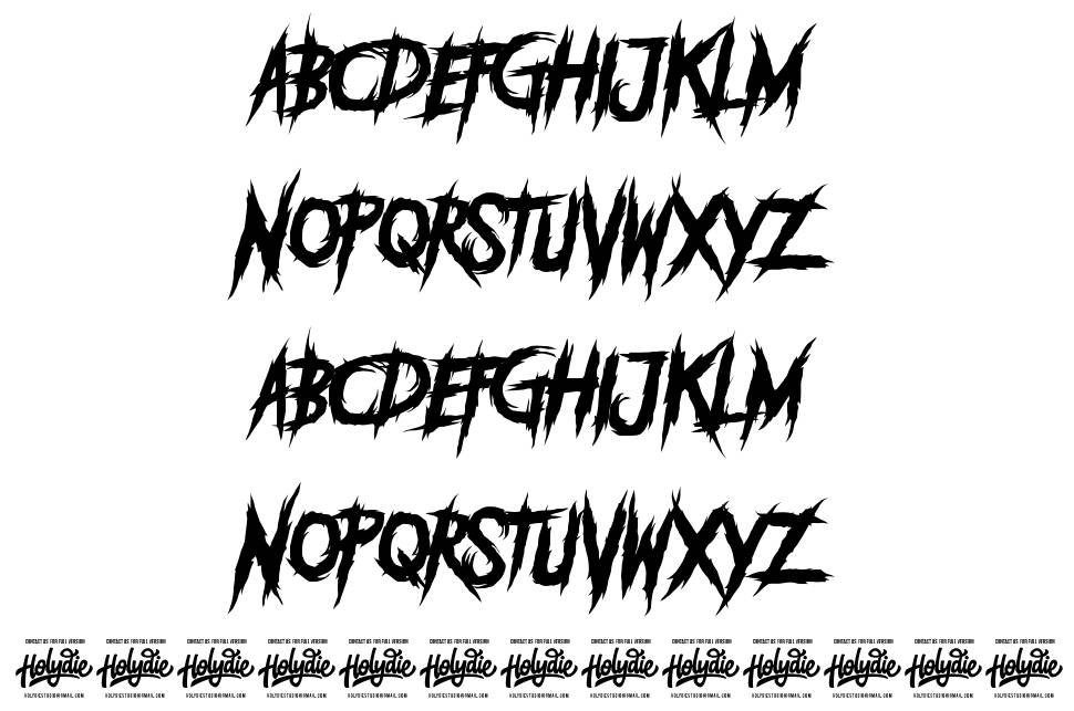 Deadly Killers font