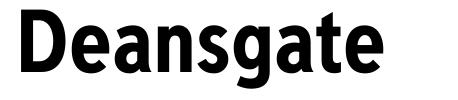 Deansgate font