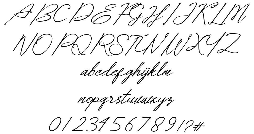 Dear Elisa шрифт