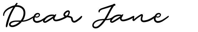 Dear Jane font