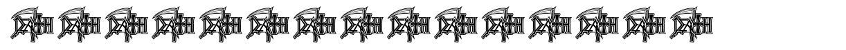 DeathMetal Logo font