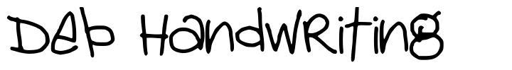 Deb Handwriting font