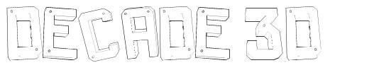 Decade 3d font