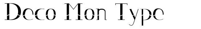 Deco Mon Type   font