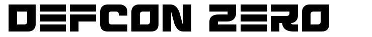 Defcon Zero font
