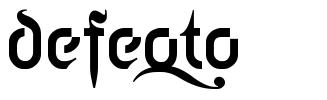 Defeqto font