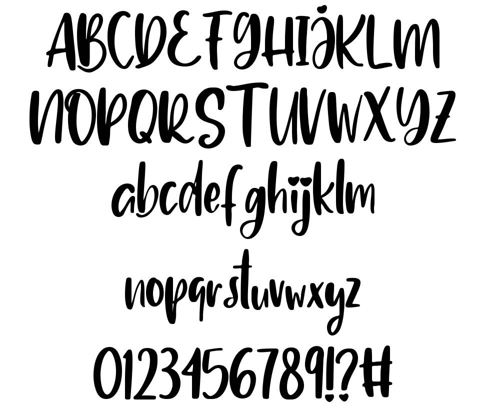Delighted font