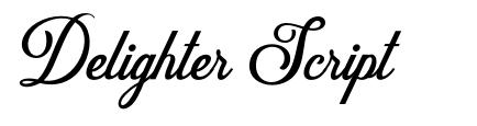 Delighter Script font