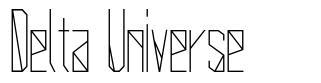 Delta Universe font