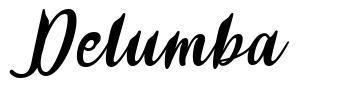 Delumba font