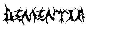 Dementia 字形