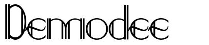 Demodee font
