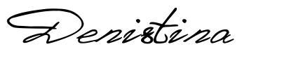 Denistina font