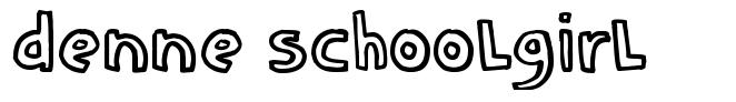 Denne schooLgirL font