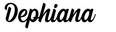 Dephiana フォント