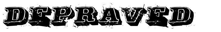 Depraved font