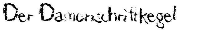 Der Damonschriftkegel font