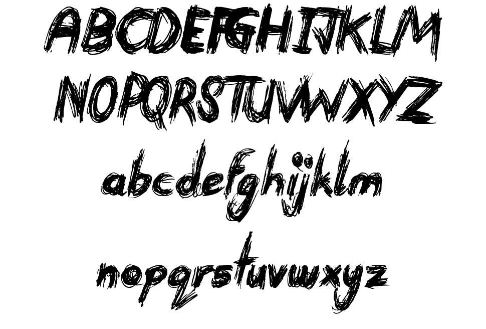 Devastated font